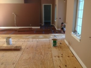 Family Room in progress